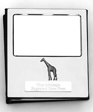 More details for giraffe design silver personalised photo album free engraving 100 photos 152