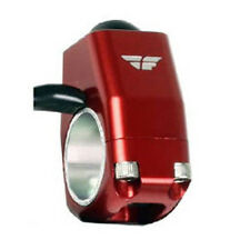 FLY Racing Billet Ignition Push Button Motorcycle Kill Switch - RED (57-5016)