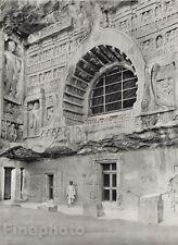 1928 Original INDIA Ajanta Cave Buddhist Hindu Temple Architecture By HURLIMANN