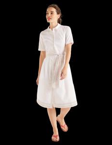 BODEN Damen Shirt Kleid -Anastasia Shirt Dress-White 12R 38