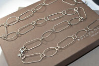 """Silpada .925 Sterling Silver Textured Link """"Lasting Impressions"""" Necklace N2731"""