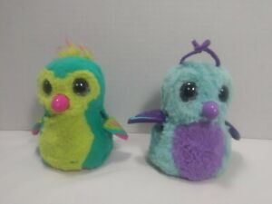 Hatchimals Lot Of 2 Owls 6-5 In Works Talks Moves Around