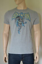 Nouveau ABERCROMBIE & FITCH VINTAGE BATMAN TEE T-shirt super-héros Gris XXL