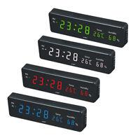 Led Alarm Clock Digital Wall Hanging Clock with Temperature Humidity Display