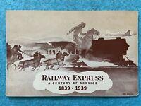 Railway Express, a Century of Service 1839-1939 Vintage Postcard