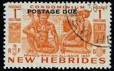 NEW HEBRIDES-1953 1f Orange Postage Due Sg D15 FINE USED V15039
