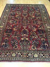 "6'5"" x 9' Antique Persian Sarouk Oriental Rug - 1930's - Hand Made - Full Pile"