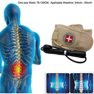 Lumbar Decompression Belt Back Brace Spinal Support Air Traction Extender Relief