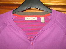 Ted Baker purple Pure Cotton Light Jumper. Size 3/L. Unisex Large Long Sleeved