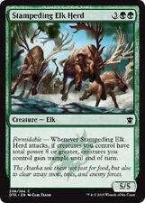 MTG Dragons of Tarkir 4x Stampeding Elk Herd x4 MINT PACK FRESH UNPLAYED Common