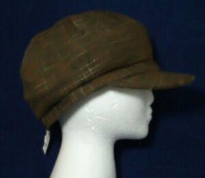 Ladies flat cap peaked hat Peaky Blinders country Hunting Brown fashion NEW