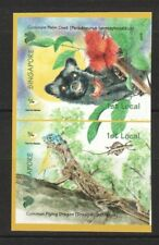 SINGAPORE 2006 FUN WITH NATURE (CIVET & FLY DRAGON) BOOKLET PANE 2 STAMPS MINT