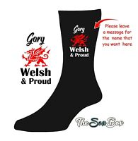 Personalised Welsh and PROUD SOCKS  Birthday Novelty GIFT name Irish Scottish