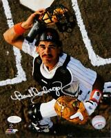 Benito Santiago Signed San Diego Padres 8x10 PF Mask Off Photo-JSA W Auth *White
