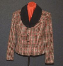 Jessica Howard Short Jacket with Buttons & Fur Collar size 6