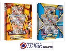 Mega Metagross & Mega Blaziken EX Premium Collection Boxes Pokemon Cards Playmat
