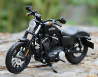 1:12 Maisto Harley-Davidson 883 Iron Motorcycle Racing Alloy Model Kids Toys