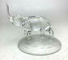Good Luck Glass Elephant Figurine Statue Sculpture Pachyderm Crystal Art Decor