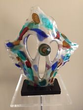 Murano Sergio Costantini Clown  Face Modern Art Glass Sculpture H 18""