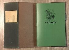 FILSON Horween Leather Notebook & Cover Dark Brown NEW!