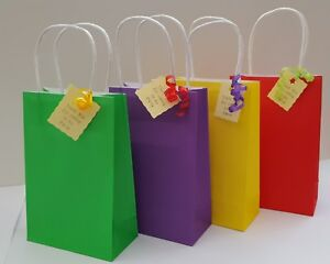 Party bags pre filled unisex paper bags with handles & cake bag MIN ORDER 12