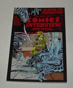 COMICS INTERVIEW MAGAZINE SUPER SPECIAL ALIENS vs PREDATOR 1991 SAM KEITH