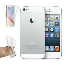 Funda Doble Silicona para IPHONE 5 Gel TPU Transparente Protección Integral i403
