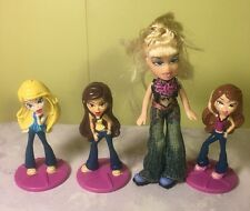 Bratz Doll Girl Toy Figure Figurine Lot 4 Bakery Crafts Cake Topper MGA Brats