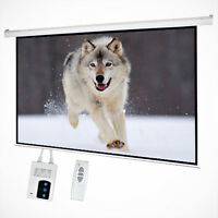 """NEW 100"""" 16:9 Electric Auto Projector Motorized Projection Screen Remote Control"""