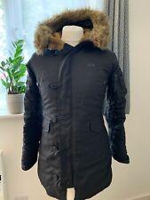 Mens designer ALPHA INDUSTRIES USA UK size Medium Black padded parka coat