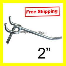 "2"" Light Duty Pegboard Hook Straight Cut Zinc - Fits 1/8"" & 1/4"" Peg Board New"