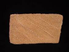 Vintage Japan Beaded Handbag - Pearl Beaded Purse - very nice