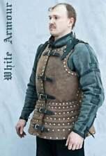 Medieval Larp Warrior steel Brigandine Leather Covered Cuirass Armor Breastplate