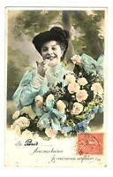 CPA  Fantaisie Femme et roses postcard fantasy