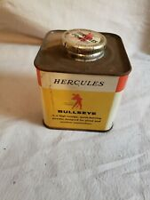 Vintage Hercules Bullseye Smokeless Pistol Powder Tin Empty Gun Powder Tin