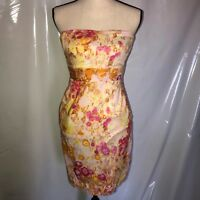 WOMENS J. Crew Multicolor Strapless Floral Pocketed Dress SIZE 0