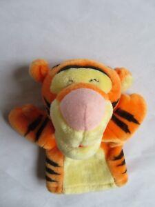"Disney Winnie the Pooh TIGGER 8"" Plush Hand Puppet - Mattel Arcotoys"