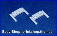 Lego 2 x Platte Griff grau 3839b Plate Handles 1x2 Light Bluish Gray - NEU / NEW