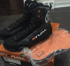 Rival Boxing Boots-Low Tops With Mesh Black & Orange Sz-7 Euro-41