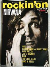 rockin'on 5/1993 Japan Music Magazine Nirvana The Cure Guns N' Roses