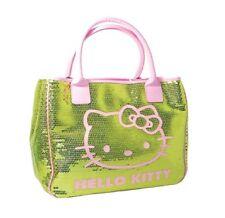 Hello kitty vert sac fourre-tout sequin chic 30CM filles élégant sac à main voyage bagages