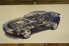 porsche 928s  pvc large WORK SHOP BANNER garage car show banner