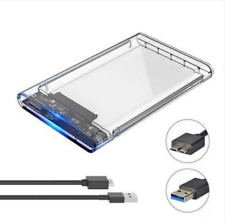 "CASE USB 3.0 PER HARD DISK 2,5"" BOX ESTERNO HDD SDD SATA I II III UASP 5Gbps 2TB"