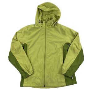 Columbia Womens Windbreaker Jacket Two Tone  Green Size Small