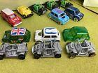 Hot wheels job lot performance cars x 6 Classic Mini Coopers plus 4 chassis