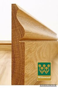 Solid Oak 180mm Ogee Skirting, Sold Per Metre, ALL SIZES AVAILABLE