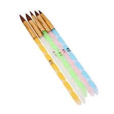5x Pro Nail Art UV Gel Crystal Painting Pen Brush Kit Salon Manicure Supply Hot