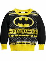Batman DC Comics Toddler Boys Bat Symbol Christmas Holiday Knit Sweater