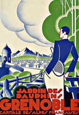 Art Ad Grenoble Travel  Deco   Poster Print