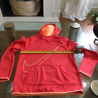 Nike Women's Workout Jogging Hoodie Red/Orange Size Medium